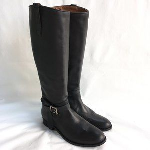 Frye Melissa Knotted Tall boots black leather NWOB